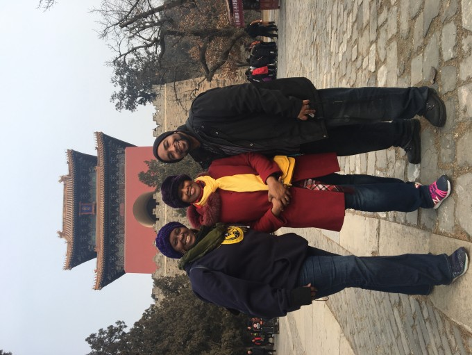While on the grounds at the 3rd Emperor's tomb site