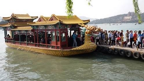 Boat which took us to Summer Palace area