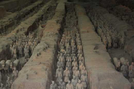 Terra-cotta warriors.