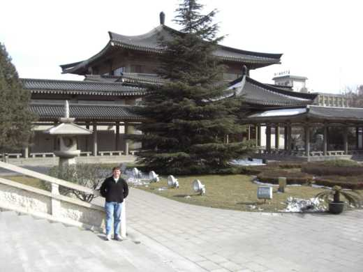 Me standing in front of the Shanxi History Museum.