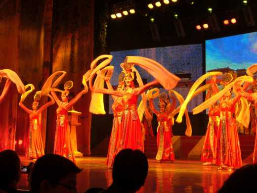 The name of this presentation was 'China Only Illuminates' during the Tang Dynasty show.