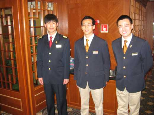 Farewell dinner(Captain Xie & Luther & Curtis)