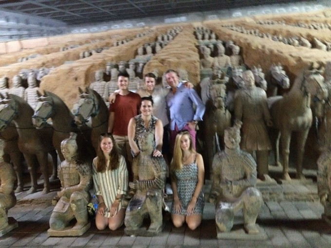 Fun picture at the Terracotta Warriors