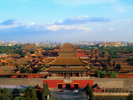 A Bird's Eye View of Forbidden City at Jingshan Park
