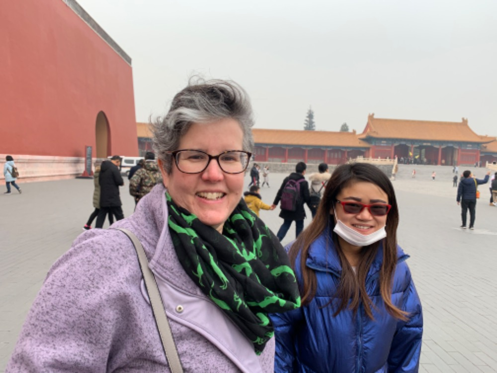 Summer and Julia at the Forbidden City
