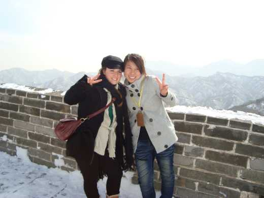 with ema my guide in the great wall!!amazingggggggggggggggggggggggggg. I loved it!and she shared my dream!!she si great!