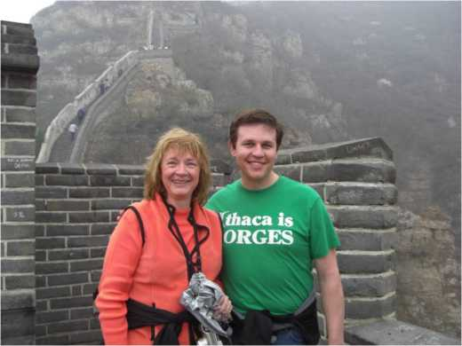 My mom and I at the Great Wall.