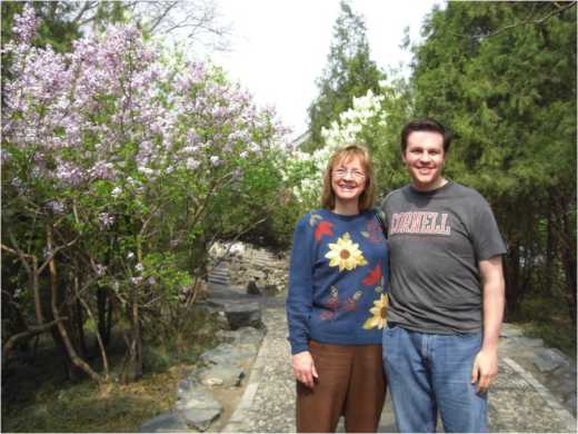 My mom and I on a path within the Summer Palace.