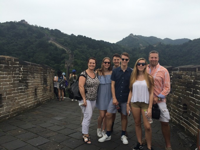 Our family on the Great Wall