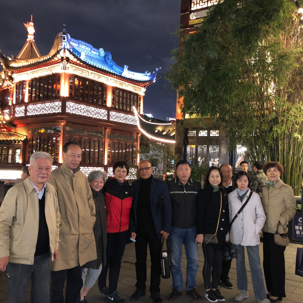 with friends in chenghuangmiao