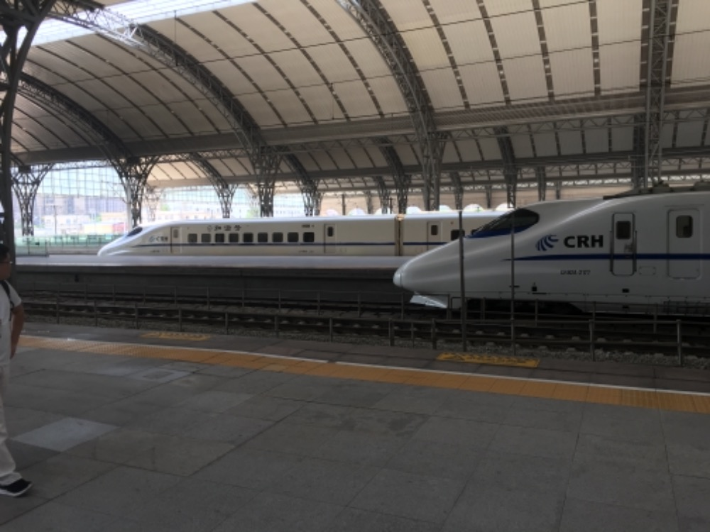 When I saw the trains it reminded  me of Shinkansen trains in Japan