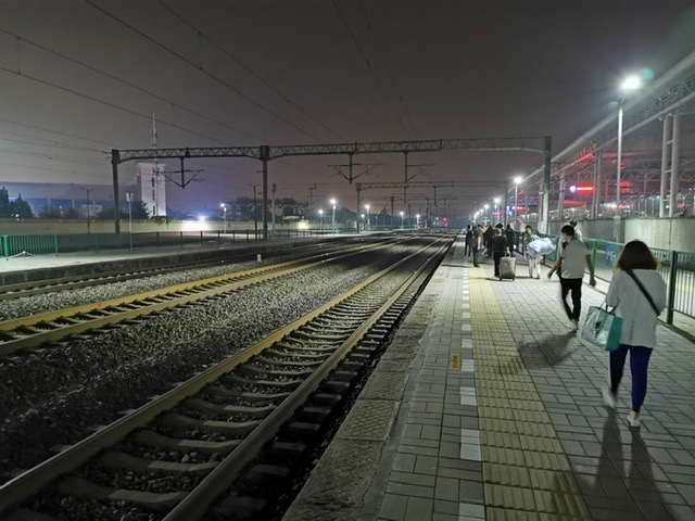 Trains run late into the night back to Beijing and big cities