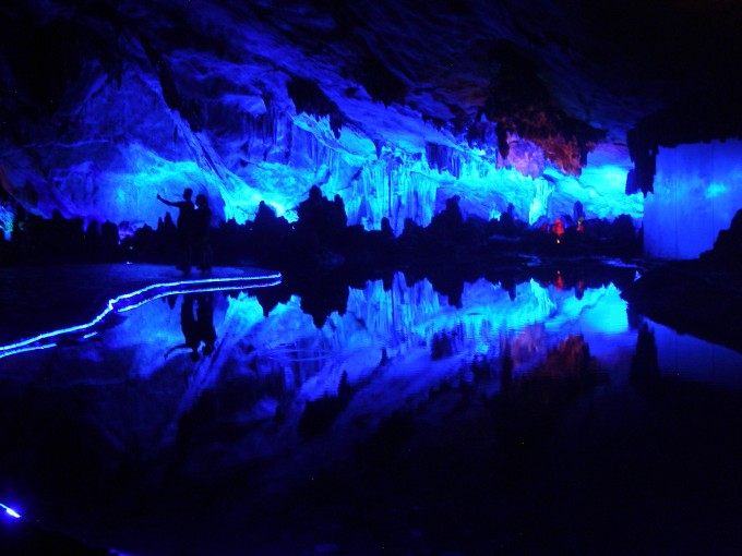 light show in cave