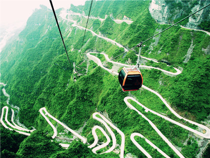 Tianmenshan cable car