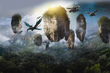 Zhangjiajie moutains in Avatar Movie